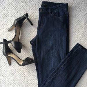 The Skinny Curvy Fit Dark Wash Ann Taylor Jeans, 6